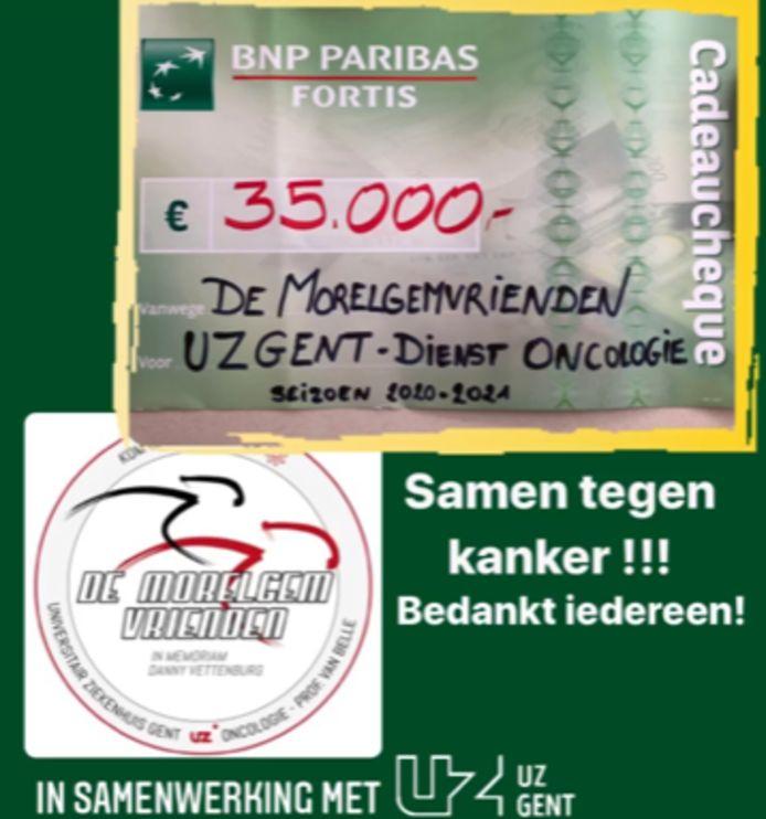 De Morelgemvrienden haalden 35.000 euro bij elkaar.