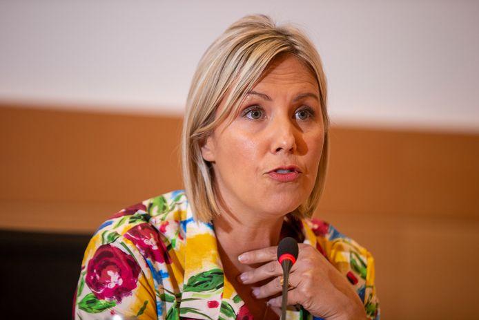 La ministre de la Défense, Ludivine Dedonder (PS).