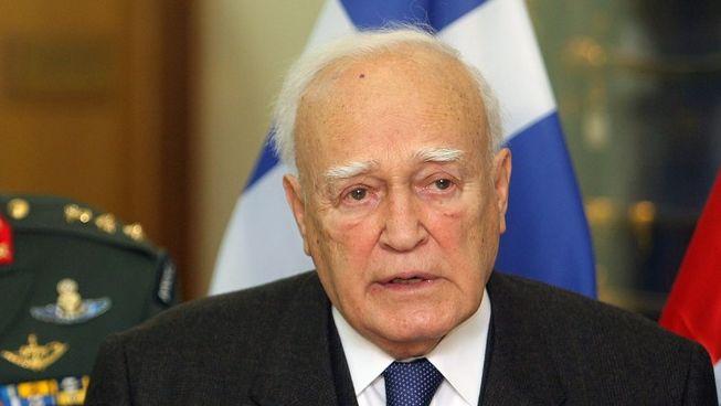 De Griekse president Papoulias.