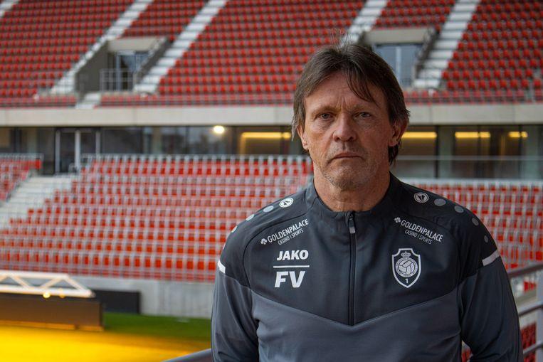 Frankie Vercauteren, dolgelukkig met zijn nieuwe job bij Antwerp. Beeld BELGA_HANDOUT