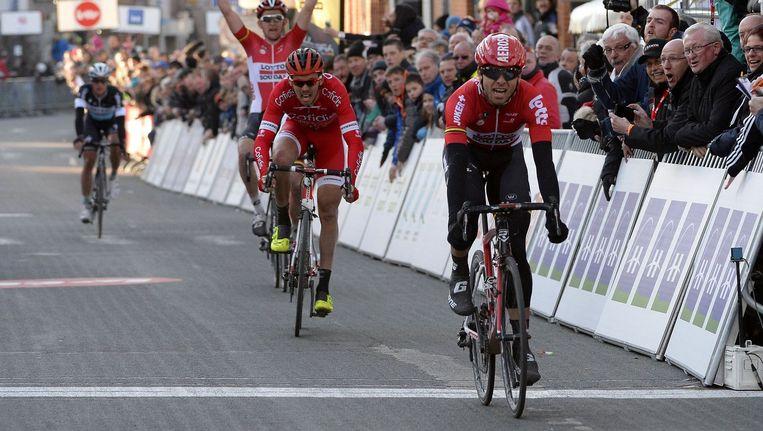 Ook in de GP Samyn bolde Kris Boeckmans dit seizoen als eerste over de streep. Beeld PHOTO_NEWS
