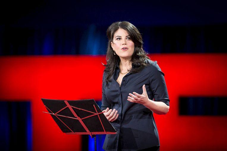 Monica Lewinsky. Beeld James Duncan Davidson/TED