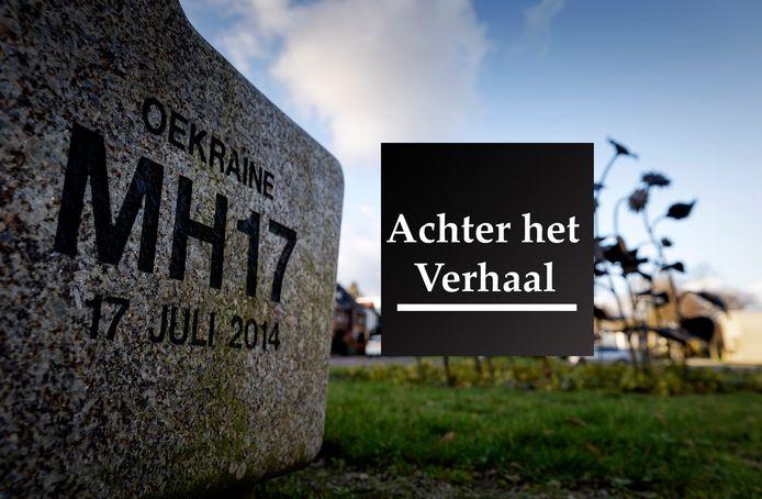 Het MH17-monument in het Dudokpark.