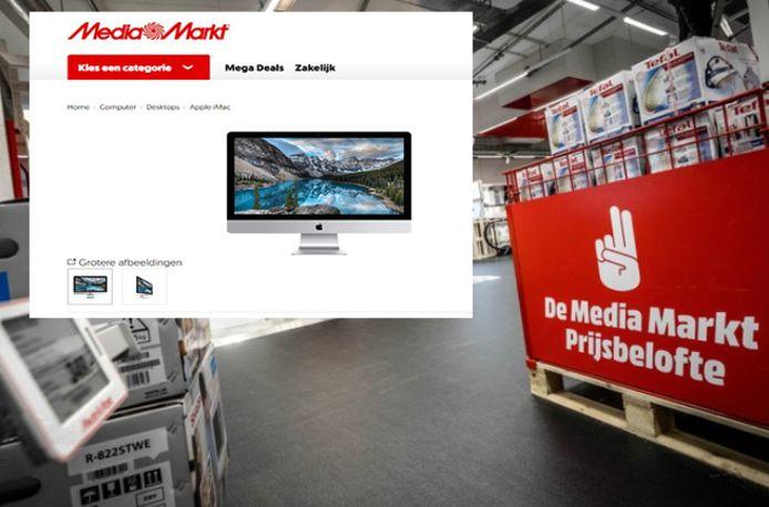 De Apple iMac is op de Nederlandse webwinkel van MediaMarkt tijdelijk uitverkocht.