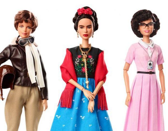 De Barbies van Amelia Earhart, Frida Kahlo en Katherine Johnson.