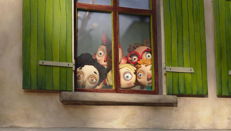 Barras' eigenzinnige animatiestijl verzacht de achtergrond en geeft de kinderen de onschuld terug die ze verloren hebben Beeld Ma Vie De Courgette