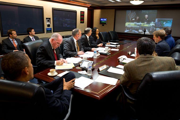 De Situation Room in het Witte Huis. Beeld AP
