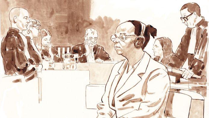 Yvonne B. tijdens het proces in de rechtbank van Den Haag.