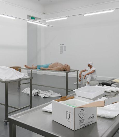 Het lichaam als product in enerverende installatie Helmondse Alja R. Steinvag