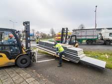 Vrachtwagen verliest lading in Nieuwegein