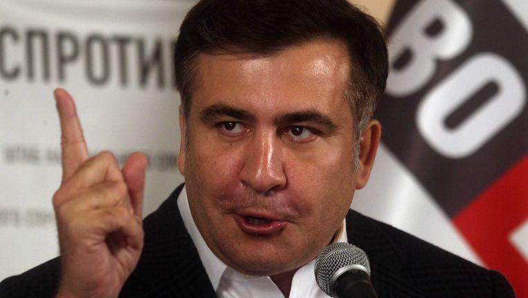 Oud-president van Georgië Michail Saakasjvili Beeld epa