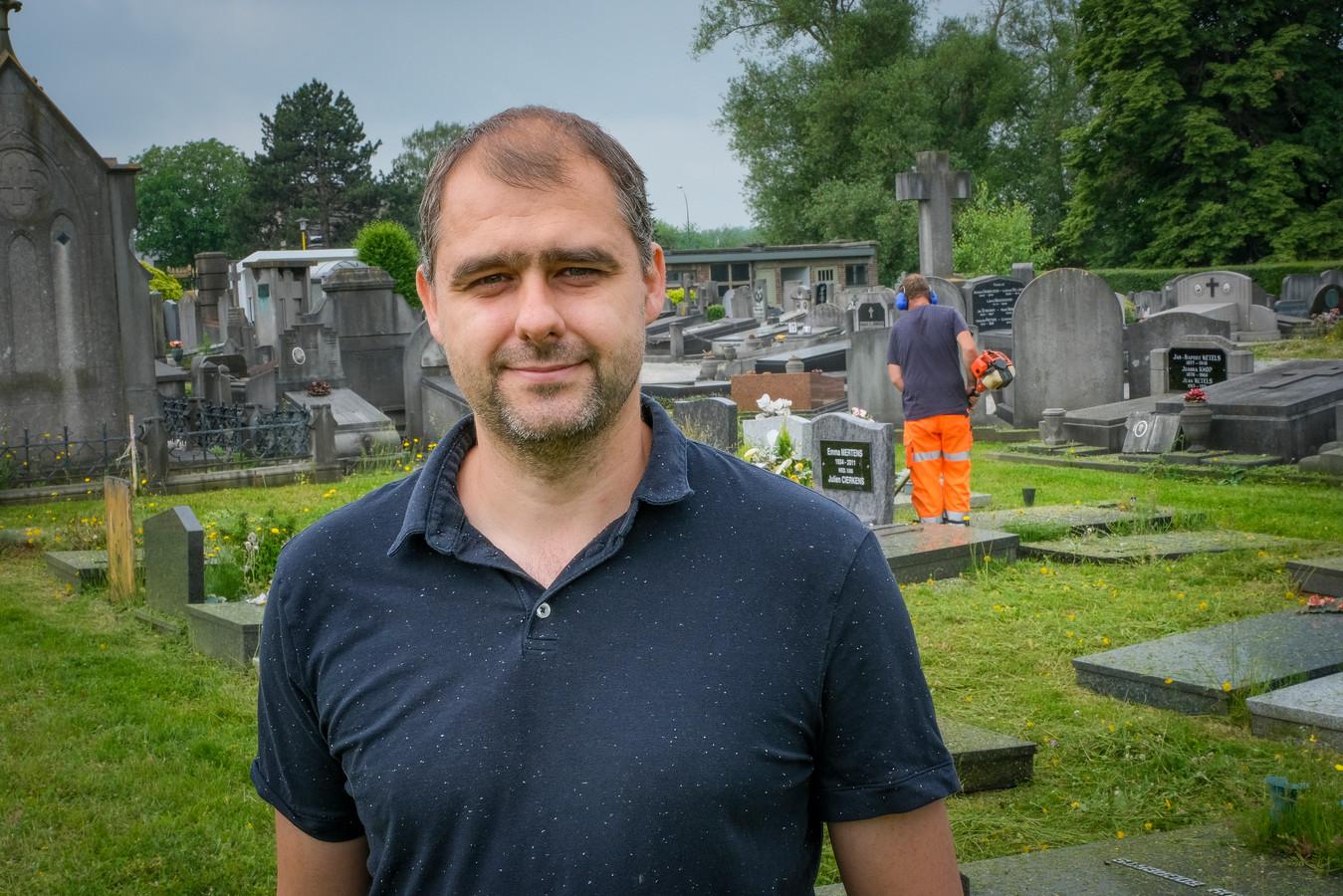 Benji Stas, hoofd van de groendienst van de gemeente Grimbergen.