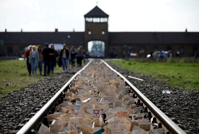 Le camp de concentration nazi Auschwitz, en Pologne.