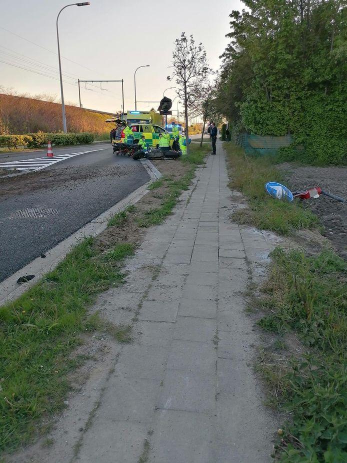 Het ongeval gebeurde op de Hombeeksesteenweg