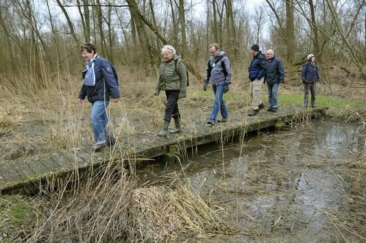 Wandelen op de Biezenplaat. Foto: Henk Veenstra.