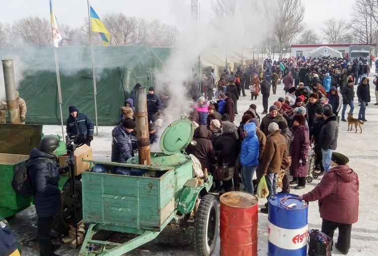 Voedselbedeling in Oekraïne. (archiefbeeld 1 februari 2017) Beeld EPA