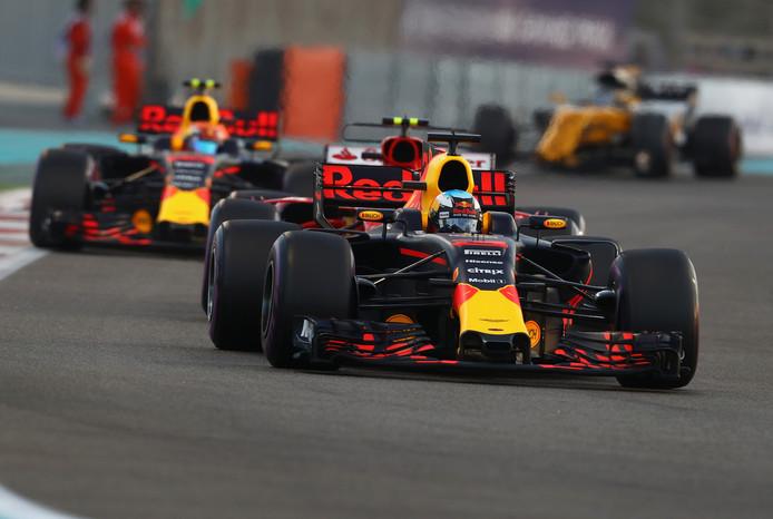 Daniel Ricciardo en Max Verstappen.