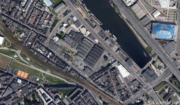 Slachthuissite Antwerpen. Beeld Google Maps