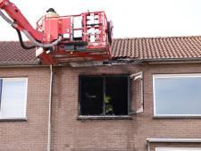 Slaapkamer compleet verwoest door brand in Culemborg