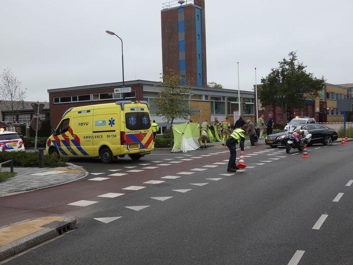 Ongeval met scooter en auto in Veenendaal.