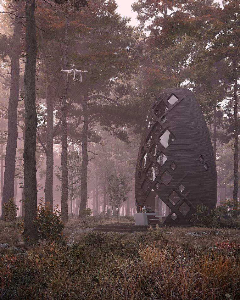 Digitale rendering van 'Tera', de aardse variant van Marsha. Beeld AI Spacefactory/Plomp