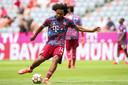 Zirkzee tijdens deze voorbereiding bij Bayern München.