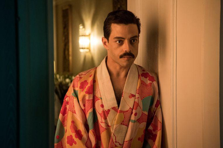 Rami Malek als Freddie Mercury in 'Bohemian Rhapsody' Beeld Alex Bailey