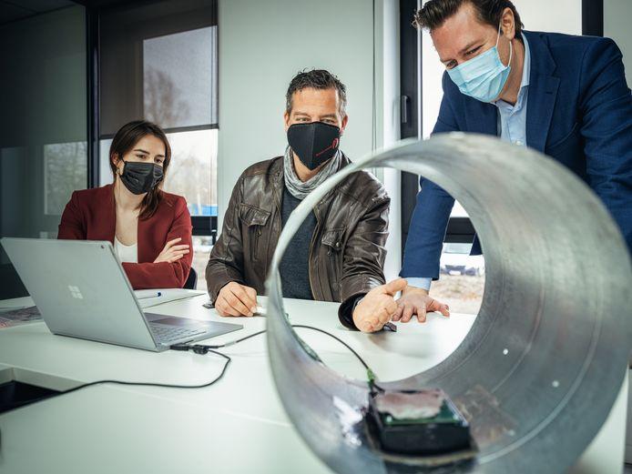 Een sensorennetwerk detecteert de hoeveelheid stofdeeltjes in het ventilatiesysteem.