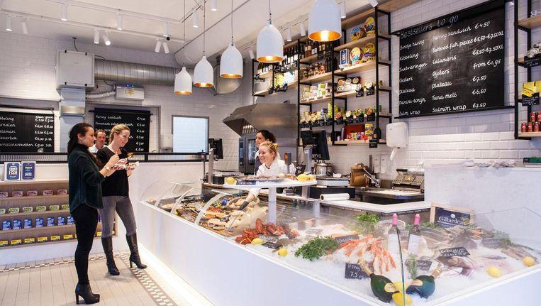 Met The Seafood Shop brengt de familie De Visscher de ambachtelijke visboer terug naar de binnenstad Beeld Carly Wollaert