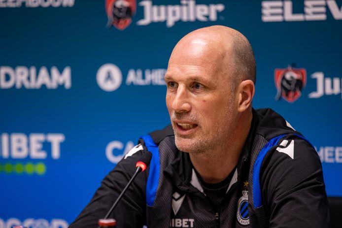 Philippe Clement, le coach du Club Bruges.