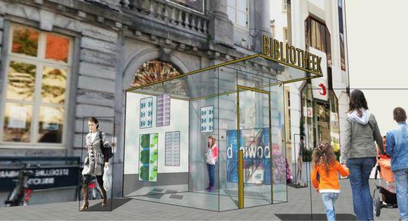 Vernieuwing bibliotheek Oudenaaarde.