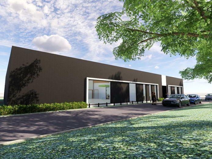 L'ébauche du nouveau centre de formation Lidl à Gilly (Charleroi)