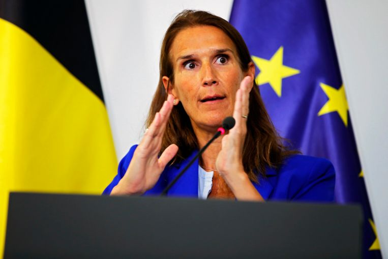 Minister van Buitenlandse Zaken Sophie Wilmès. Beeld Photo News
