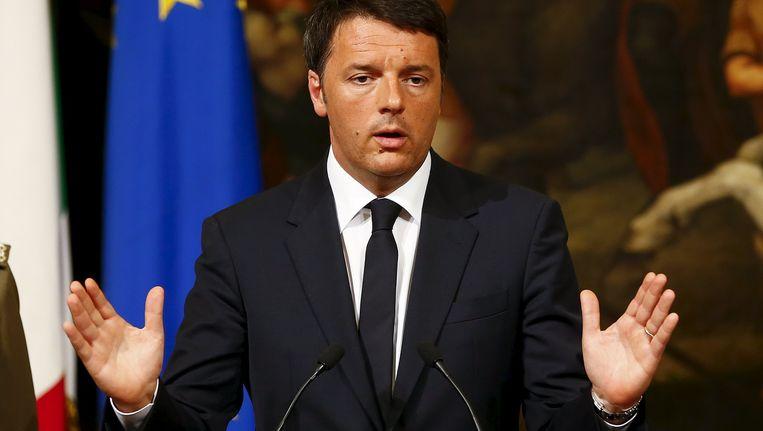 De Italiaanse premier Matteo Renzi Beeld REUTERS