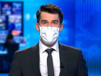 Vanaf nu dragen VTM NIEUWS-ankers ook een mondmasker wanneer ze iemand te gast hebben in de studio