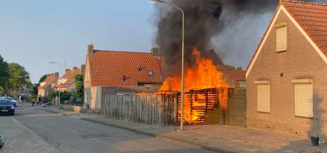 Tuinhuisje en hondenhok gaan in vlammen op in Groesbeek, rottweiler gered