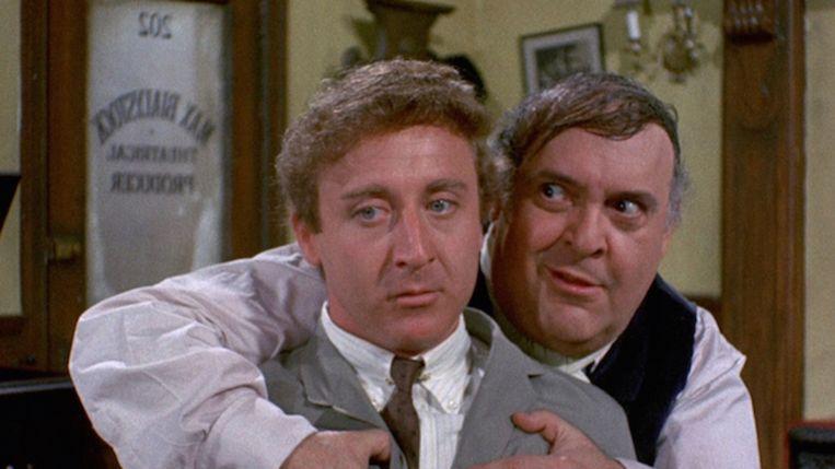 Gene Wilder (links) en Zero Mostel in The Producers. Beeld