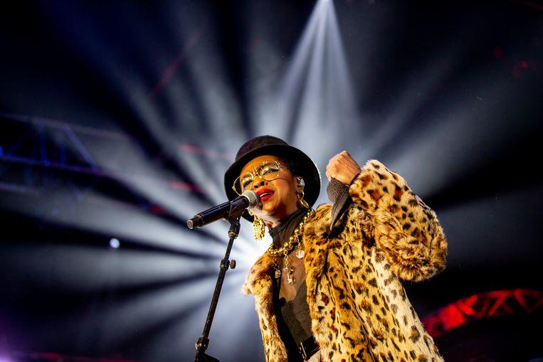 Lauryn Hill speelt haar baanbrekende plaat 'The Miseducation of Lauryn Hill' integraal in Vorst Nationaal. Beeld AP