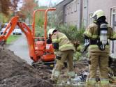 Gasleiding geraakt tijdens werk in voortuin Puccinistraat in Boxtel