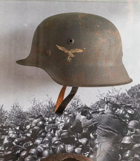 Museum in Soesterberg krijgt puntgave Duits helm cadeau die jarenlang in een schuur lag