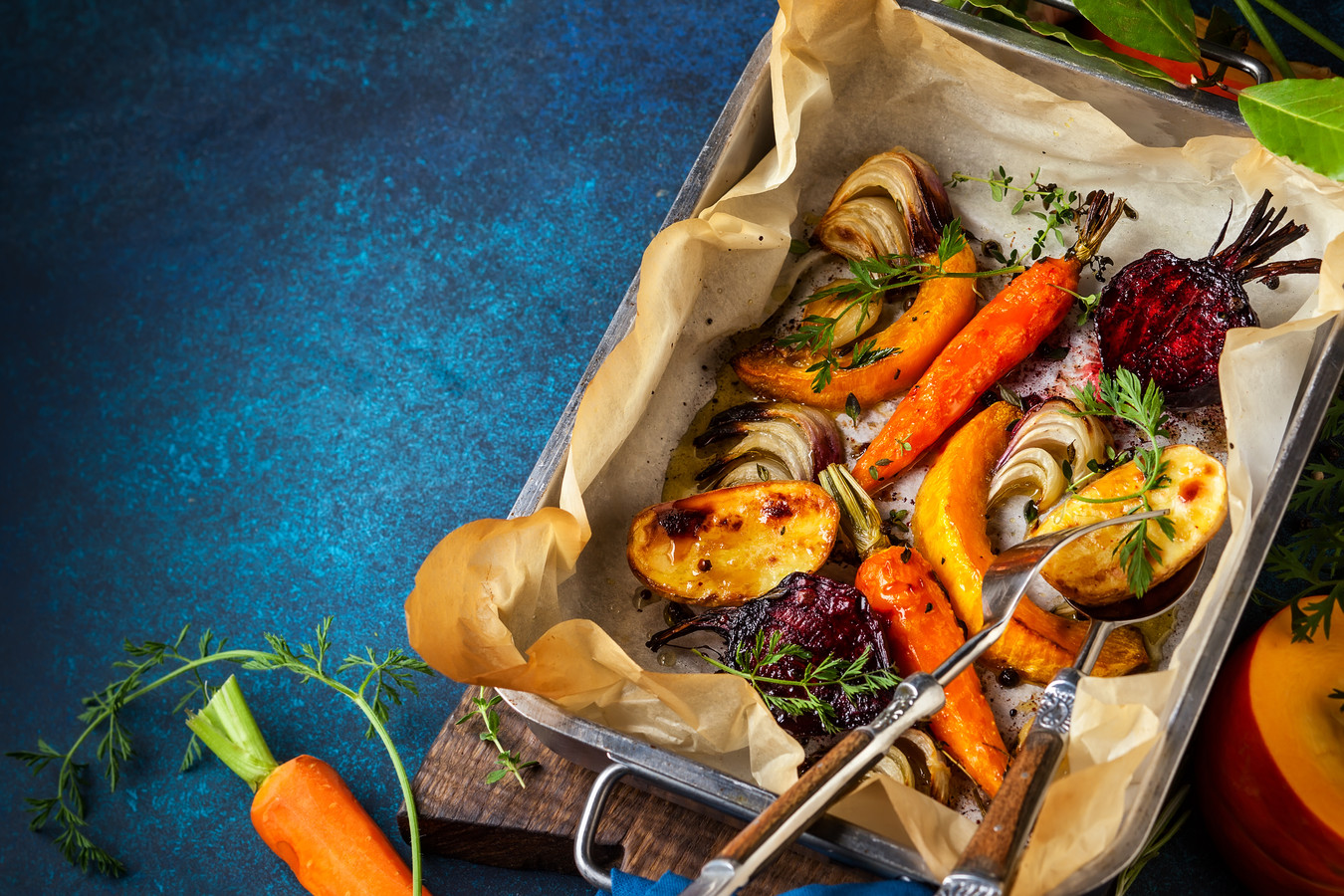 Groenten uit de oven. Heel gemakkelijk en heel lekker, aldus Ramon Beuk.