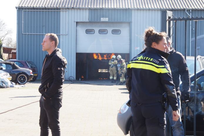 Brand in de garage in Drunen.