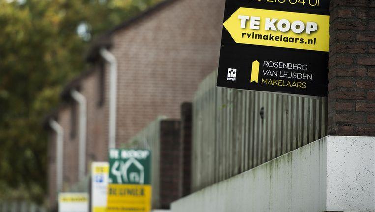 De dalende huizenprijzen maken Nederlanders niet vrolijker Beeld ANP