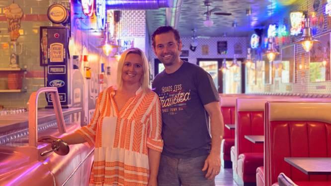 """Kim en Winrik openen Amerikaanse diner in Oostakker: """"We wilden alle clichés er wel in"""""""