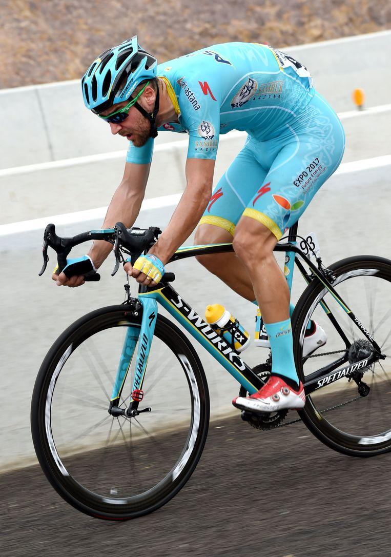 Laurens De Vreese reed lange tijd solo in de aanval Beeld Photo News