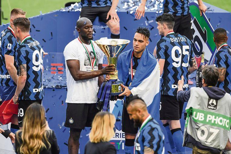 Succes bij Inter Milaan: 'Romelu voelde dat hij het vertrou wen van trainer Antonio Conte had.' Beeld BELGAIMAGE