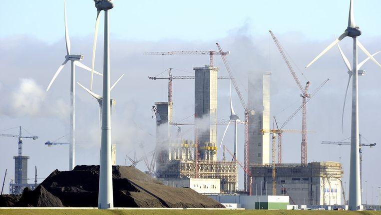 De kolencentrale in aanbouw in de Eemshaven. © ANP Beeld