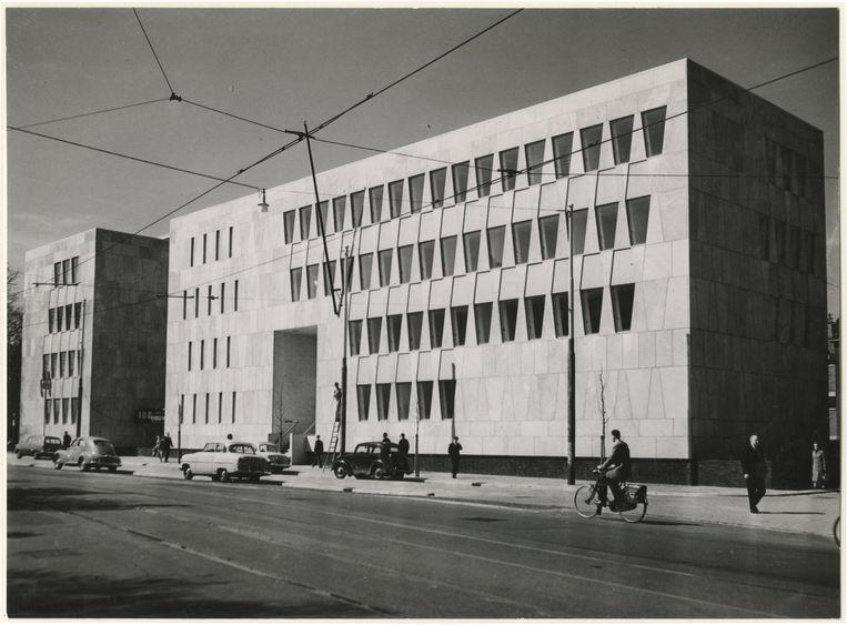 Foto uit 1959 van de Amerikaanse ambassade in Den Haag. De ambassade verhuisde in 2018 naar Wassenaar. Beeld ANP