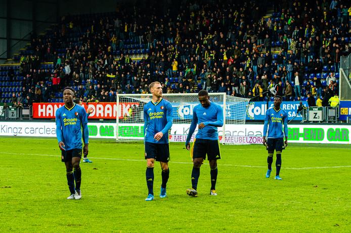 Feyenoord druipt af na de nederlaag bij Fortuna Sittard (4-2).