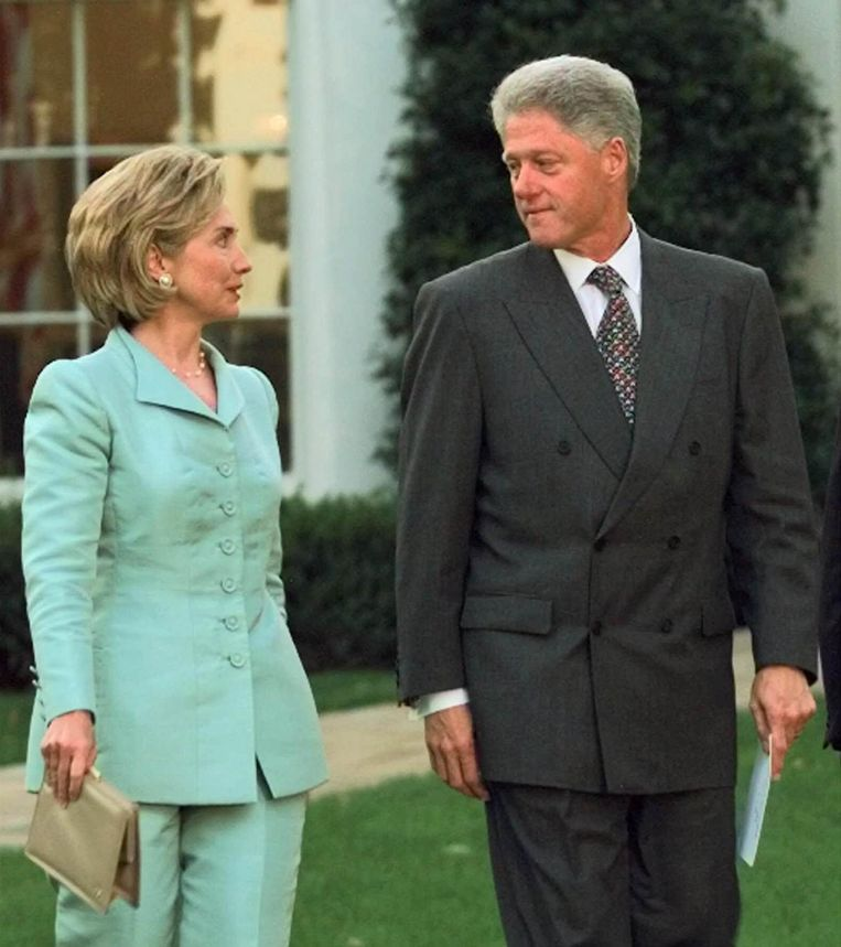 Hillary en Bill Clinton. Beeld ap